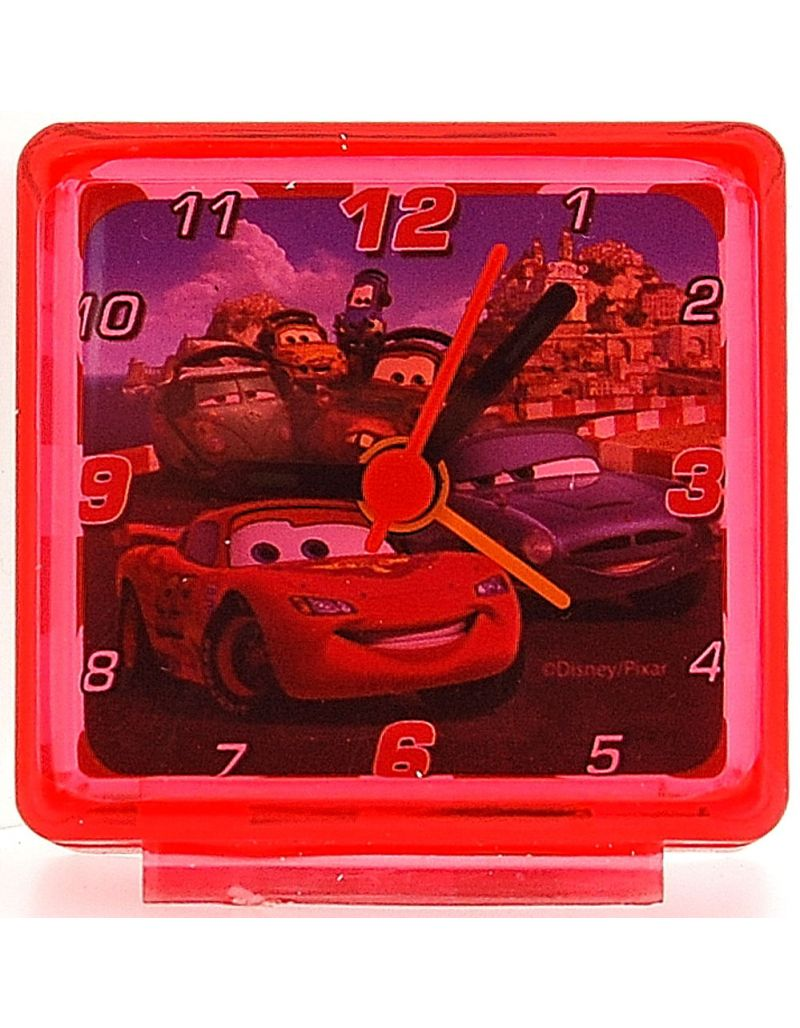 Disney World of Cars Lightening Mc Queen Red Kids Bedside Alarm Clock 53158D