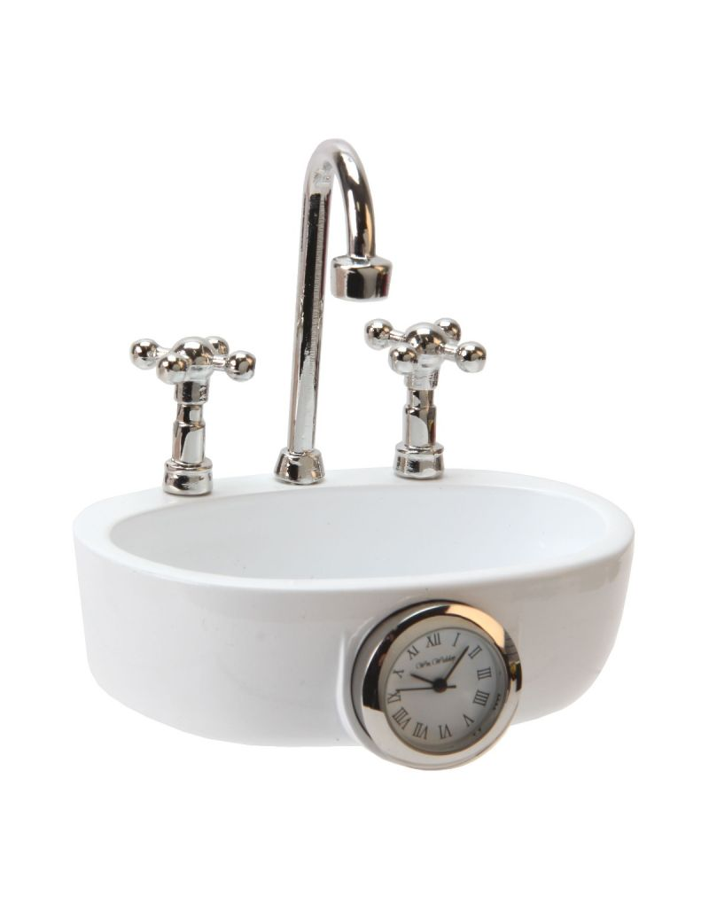 GTP The Emporium Miniature Unisex Sink Wash Basin Novelty Quartz Movement Collectors Clock  IMP1100-9602