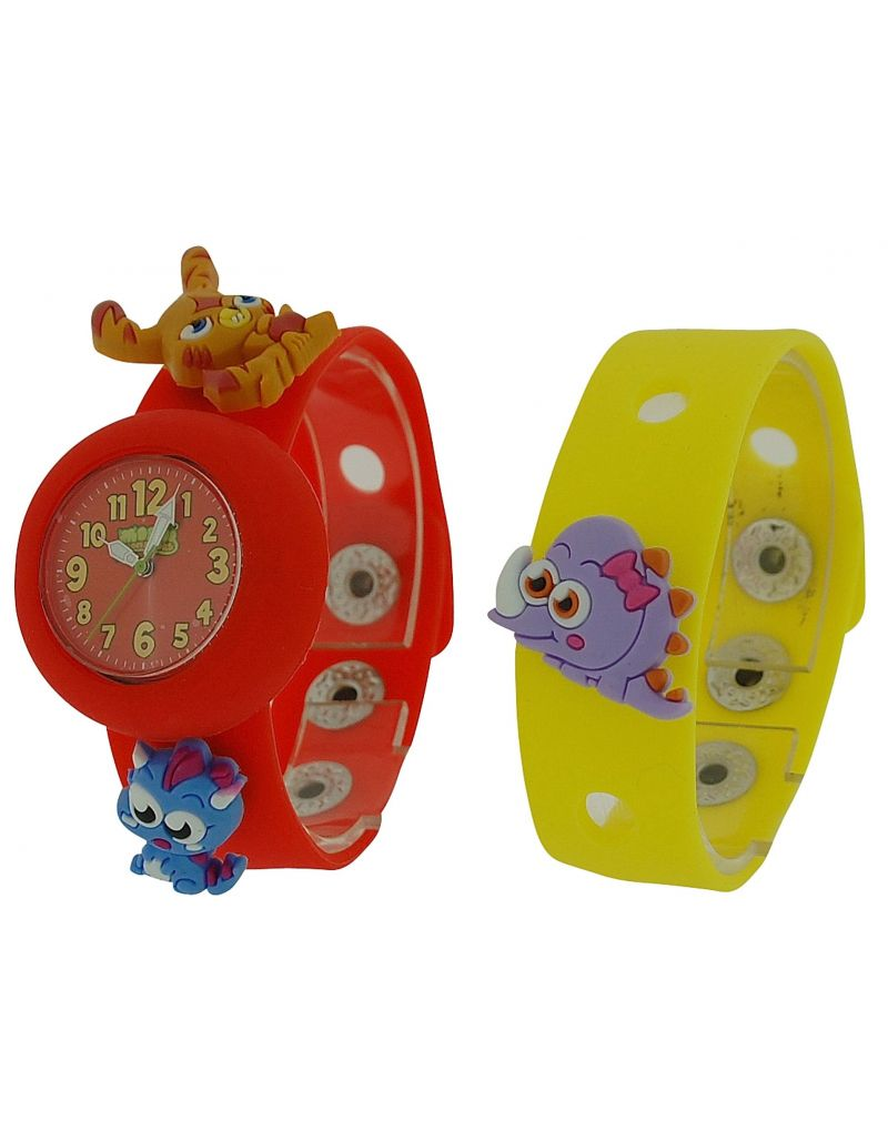 Moshi Monsters Kids Red & Yellow Interchangeable Strap Watch With Charms AMMKA