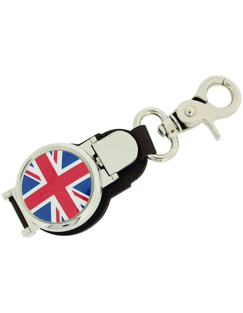 Boxx Gents Union Jack Flag Picture Keyring Fob Watch, Magnetic Closure Boxx342
