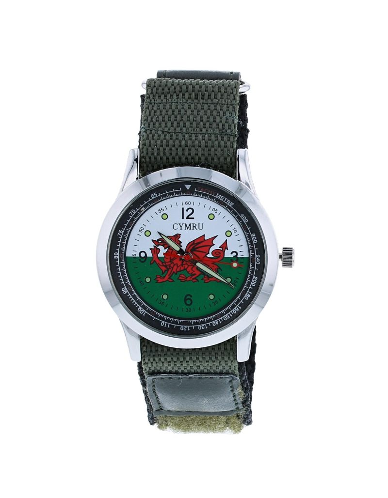 Boxx Analogue Wales Welsh Flag Cymru Easy Fasten Strap Mens Casual Watch BOXX410