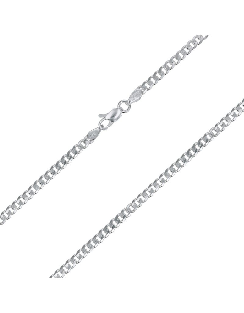 "20"" 925 Silver Curb 8.00 Gram Chain By TOC ""Hand Finished"""