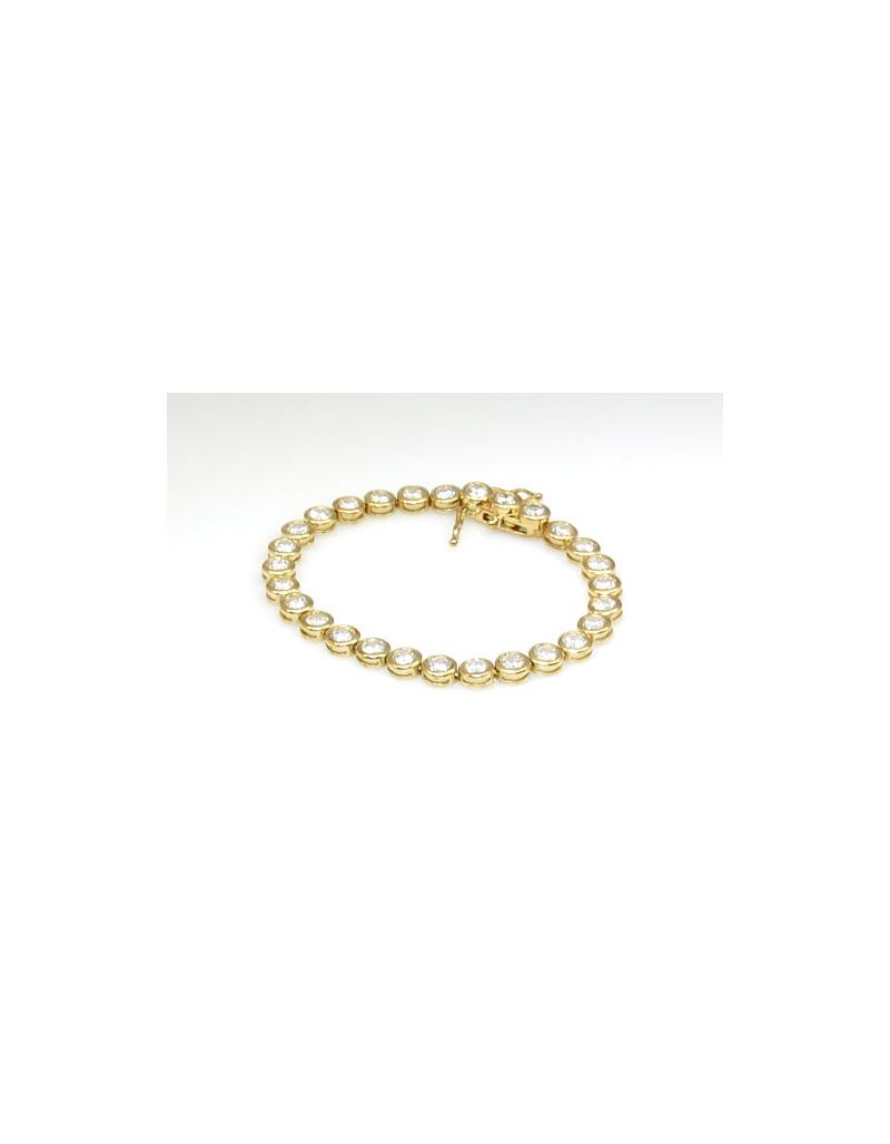 The Olivia Collection  Goldtone  On Sterling Silver Cz Tennis Bracelet