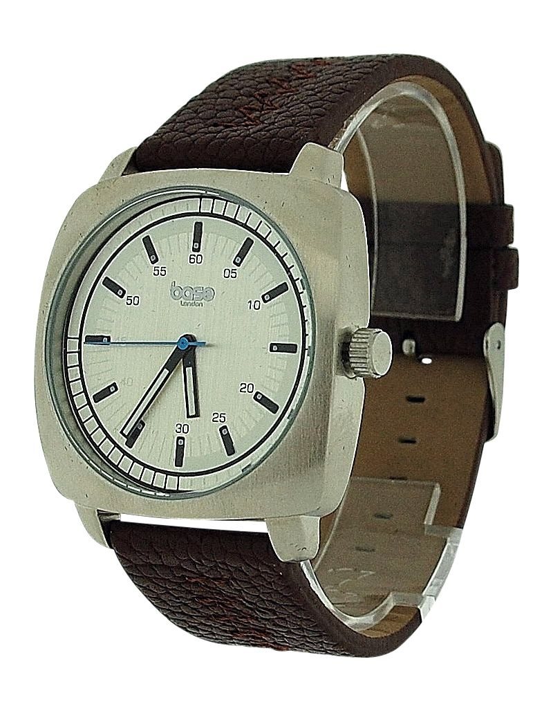 Base London Gents Analogue Brown Dial Brown Leather Strap Watch Casual DQ85.03BL
