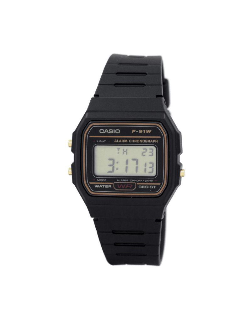 Casio F-91WG-9QEF Mens Multi Function Resin Strap Buckle Up Digital Watch