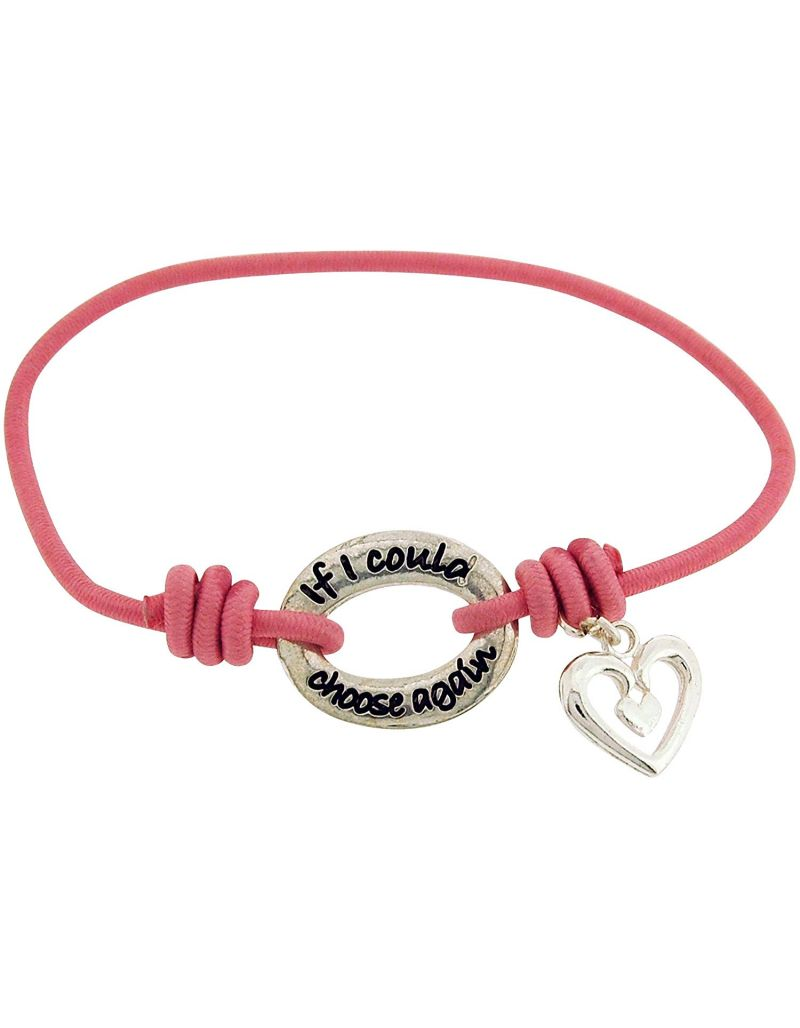 TOC Bandz 'If I Could Choose Again..I'd Still Choose You Pink Stretch Bracelet