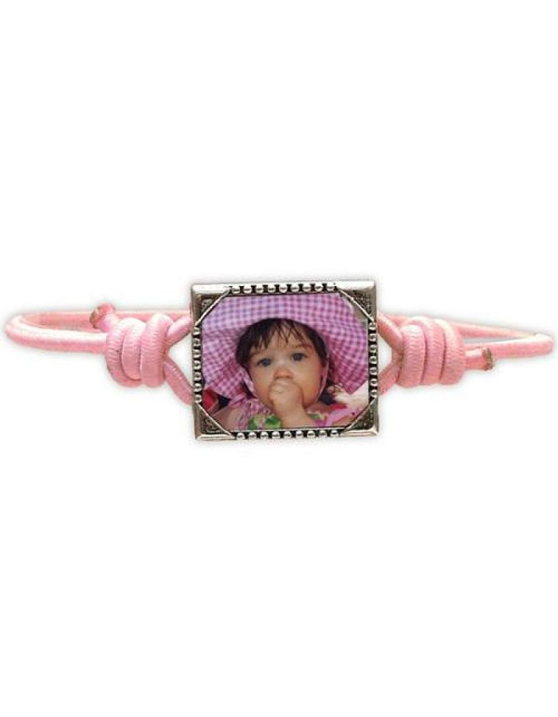 Bandz Children Girls Pink Photo Frame Elastic Stretch Bracelet