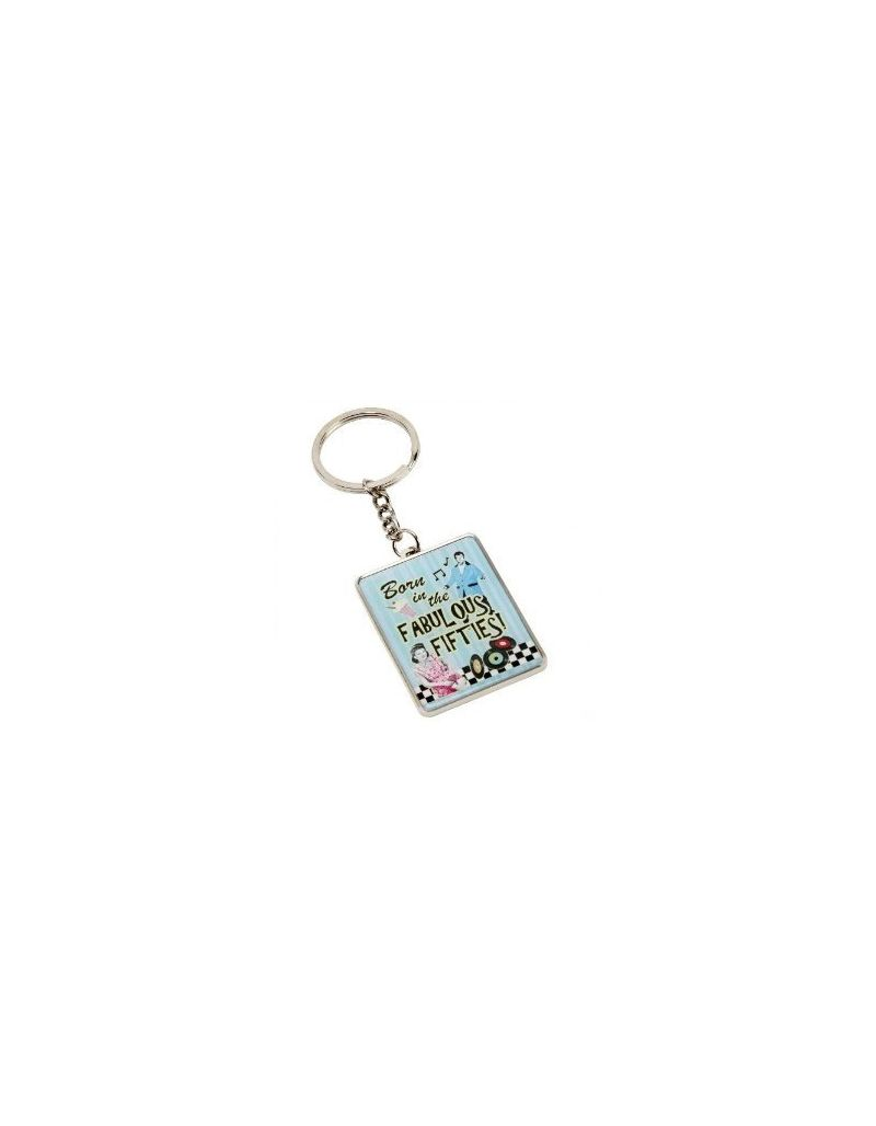 "Celebrations ""Born In The Fabulous 50's"" Keyring In Presentation Box SP444"