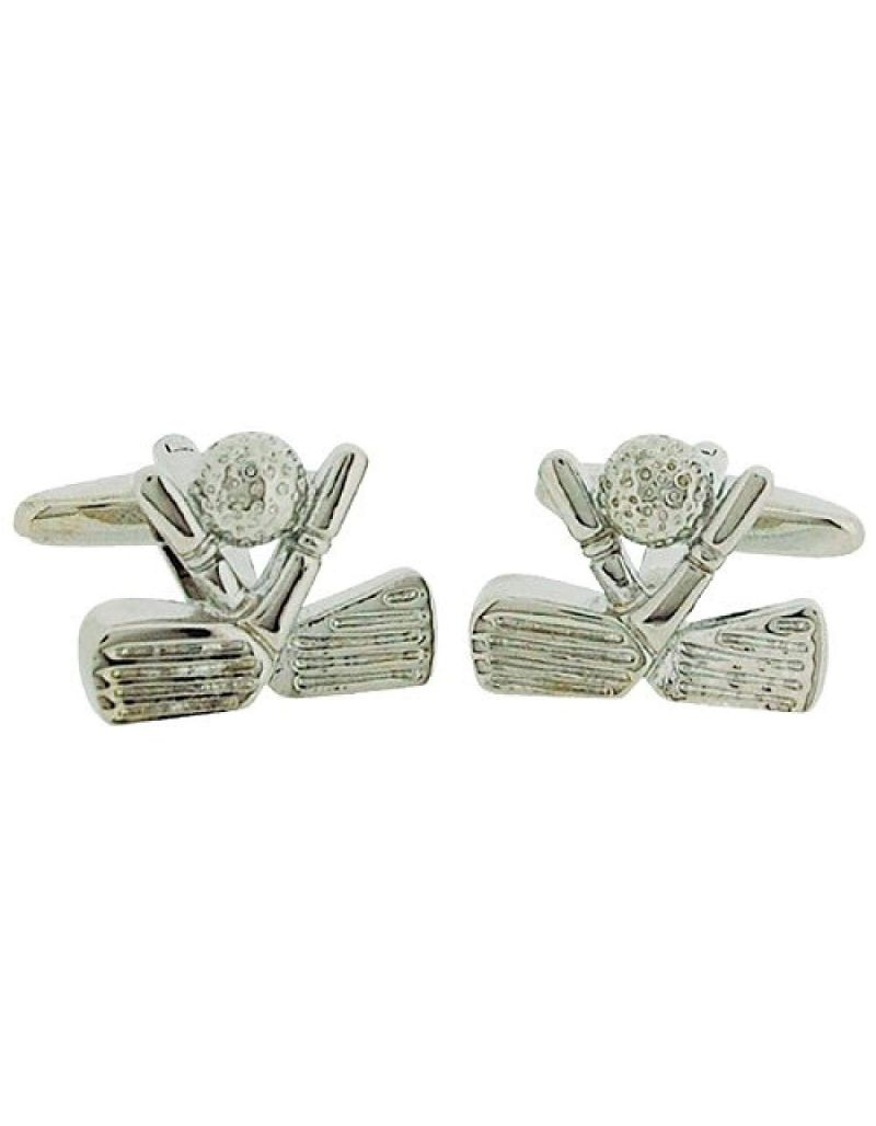 "Artamis Gents Rhodium Plated ""Golf Club"" Cufflinks In Presentation Box"