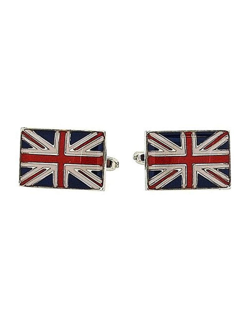 "Artamis Rhodium Plated ""Union Jack"" Gents Cufflinks In Presentation Box"