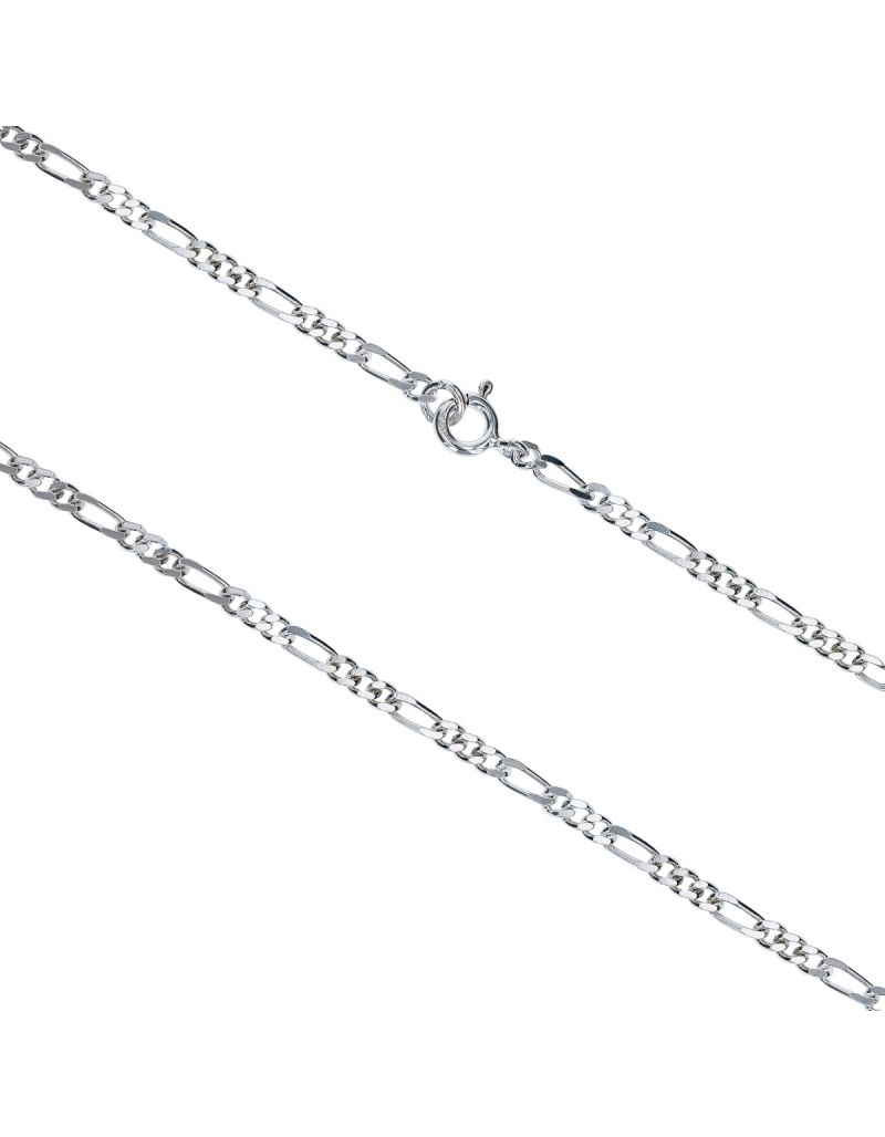 "26"" 925 Sterling Silver Figaro 8.1 Gram Chain By TOC ""Hand Finished"""