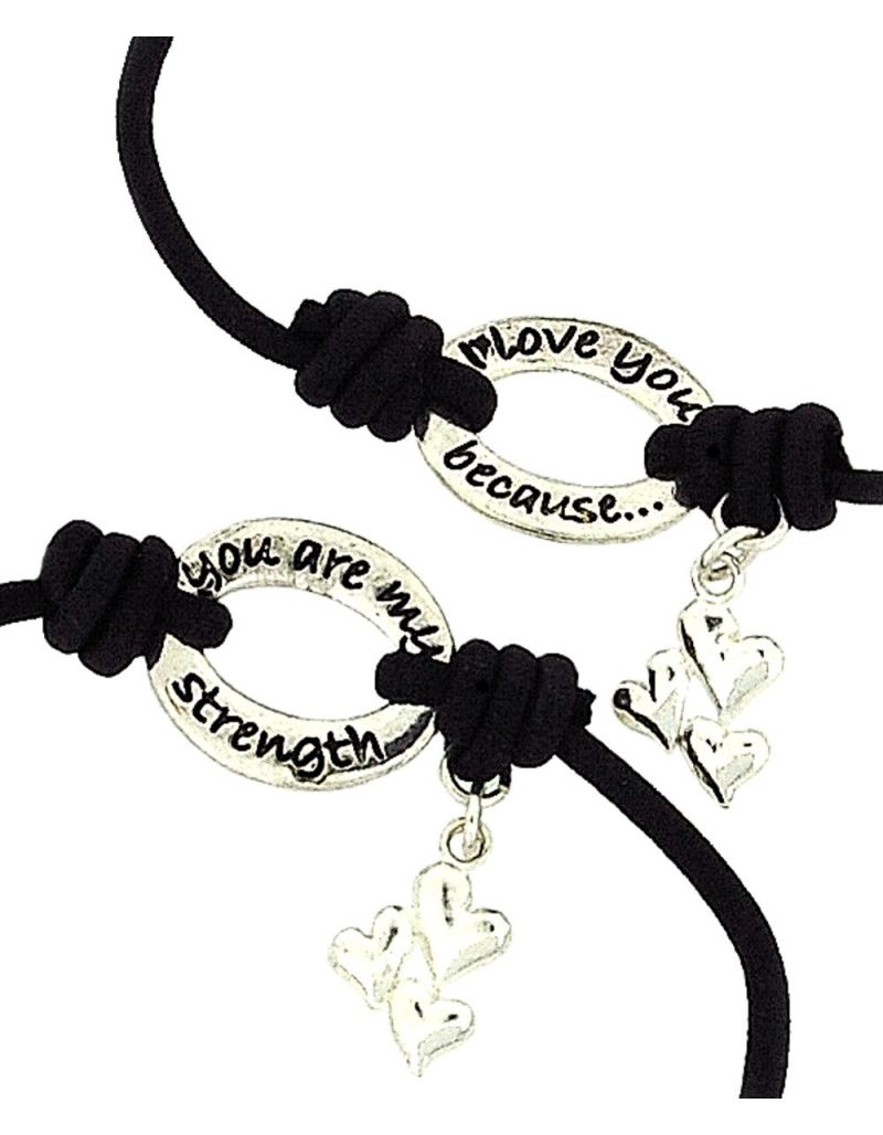 BANDZ ''I Love You Because You Are My Strength'' Sentiment Bracelet