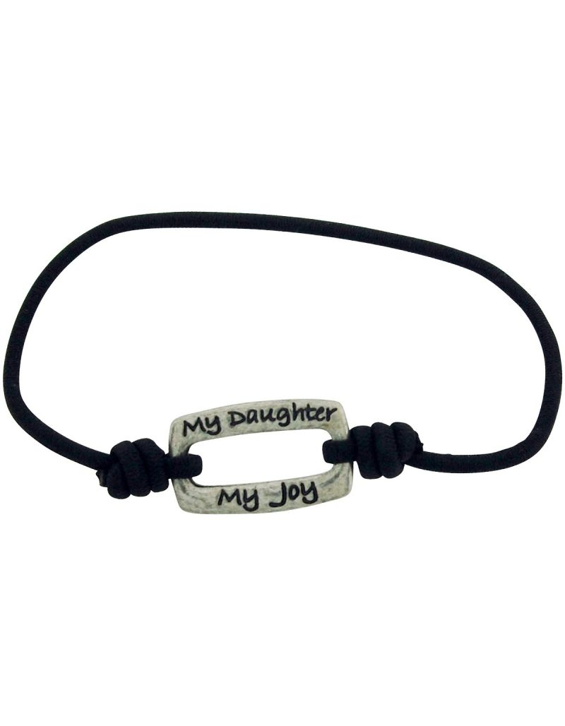 "TOC Bandz ""My Daughter My Joy My Sunshine My Heart' Black Stretch Bracelet"