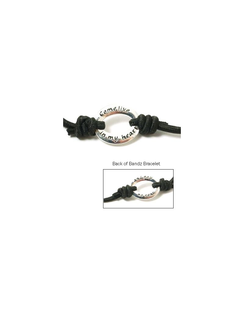 TOC Bandz 'Come Live In My Heart And Pay No Rent' Black 6 Inch Love Bracelet
