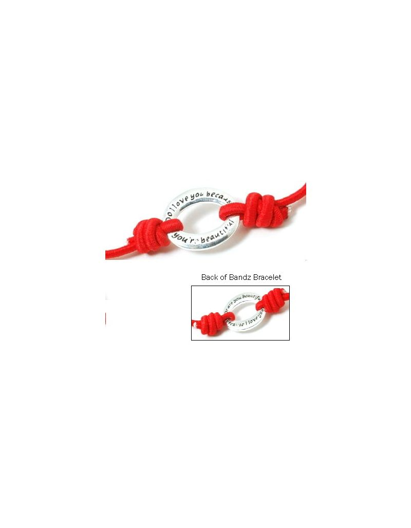 "TOC Bandz ""Do I Love You Because You Are Beautiful...6 Inch Red Love Bracelet"