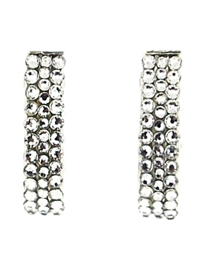 Jimmy Crystal Clear With Swarovski Elements Half Hoop Creole Earrings