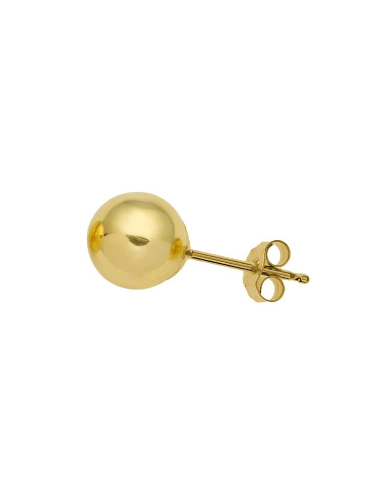 Gents 9ct Yellow Gold 6mm Ball Stud Earring - Single Stud - The Olivia Collection