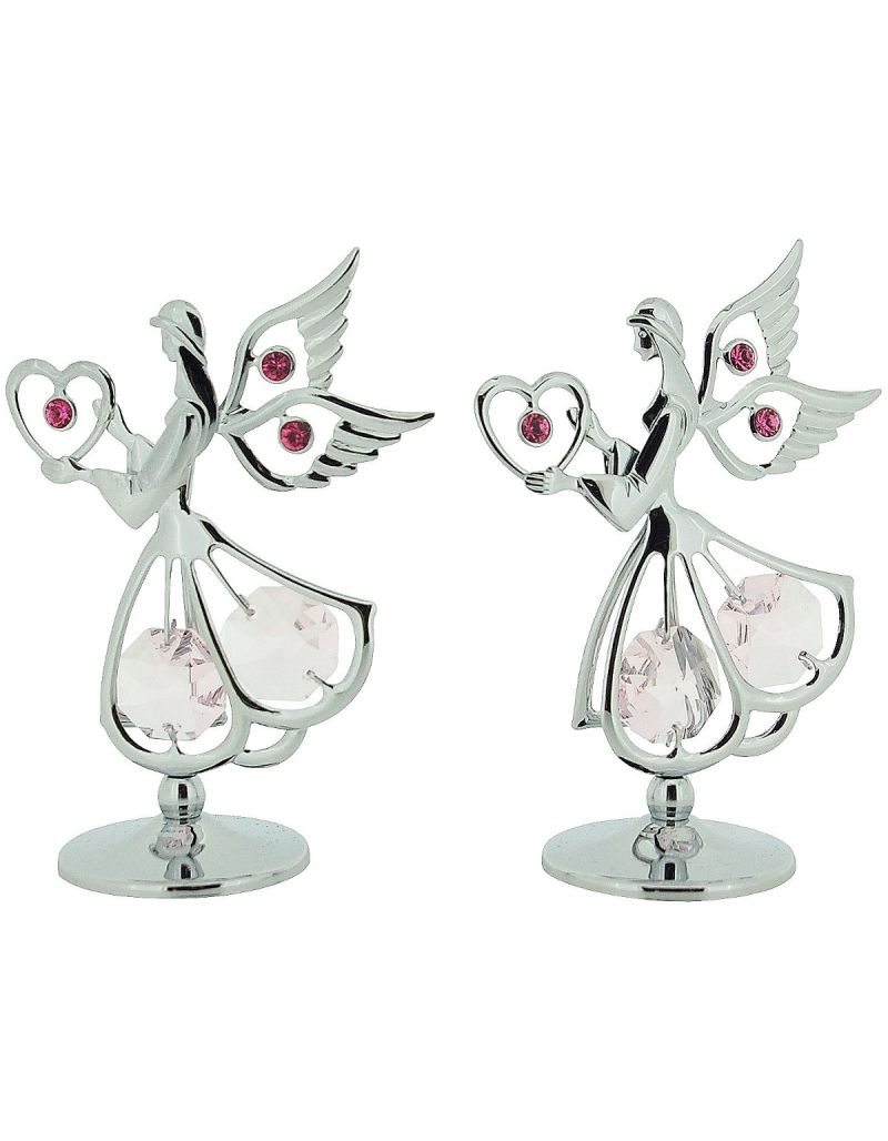 Crystocraft Freestanding Angels Made With Swarovski Crystals - Pack of 2