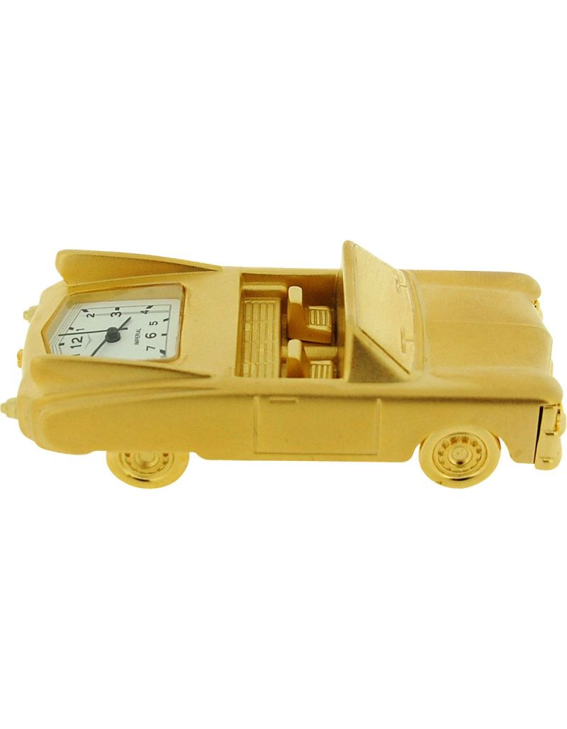GTP Miniature Novelty Classic Convertible Brass Desktop Collectors Clock IMP1004