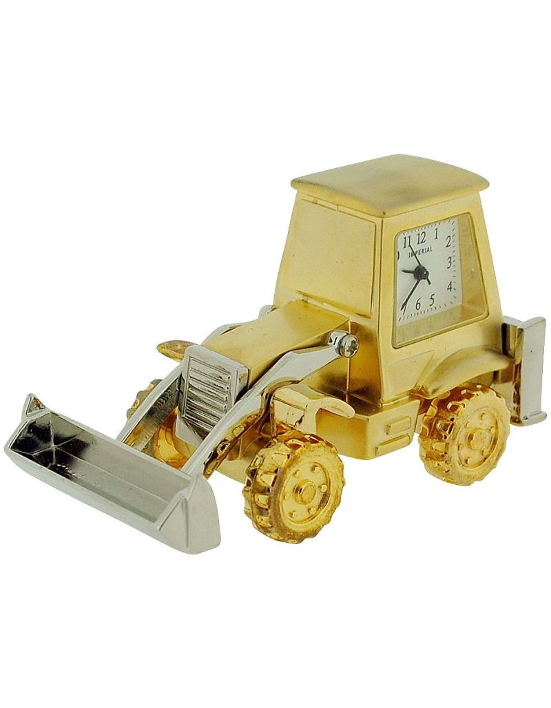 GTP Miniature Two Tone Metal Digger Novelty Collectors Desktop Clock IMP1048