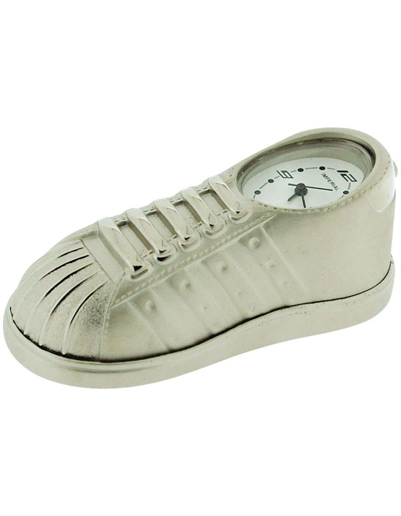 GTP Miniature Sneaker/Trainer Novelty Silver Tone Metal Collectors Clock IMP1060