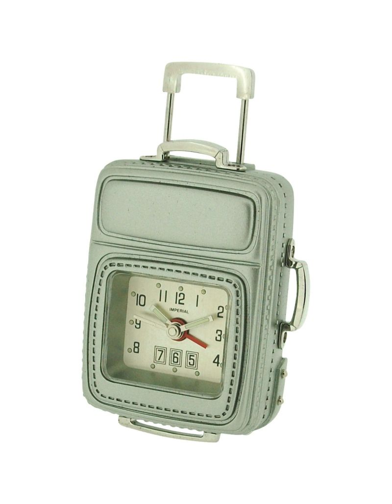 GTP Unisex Miniature Frequent Flyer Cabin Luggage & Alarm Novelty Collectors Clock IMP608