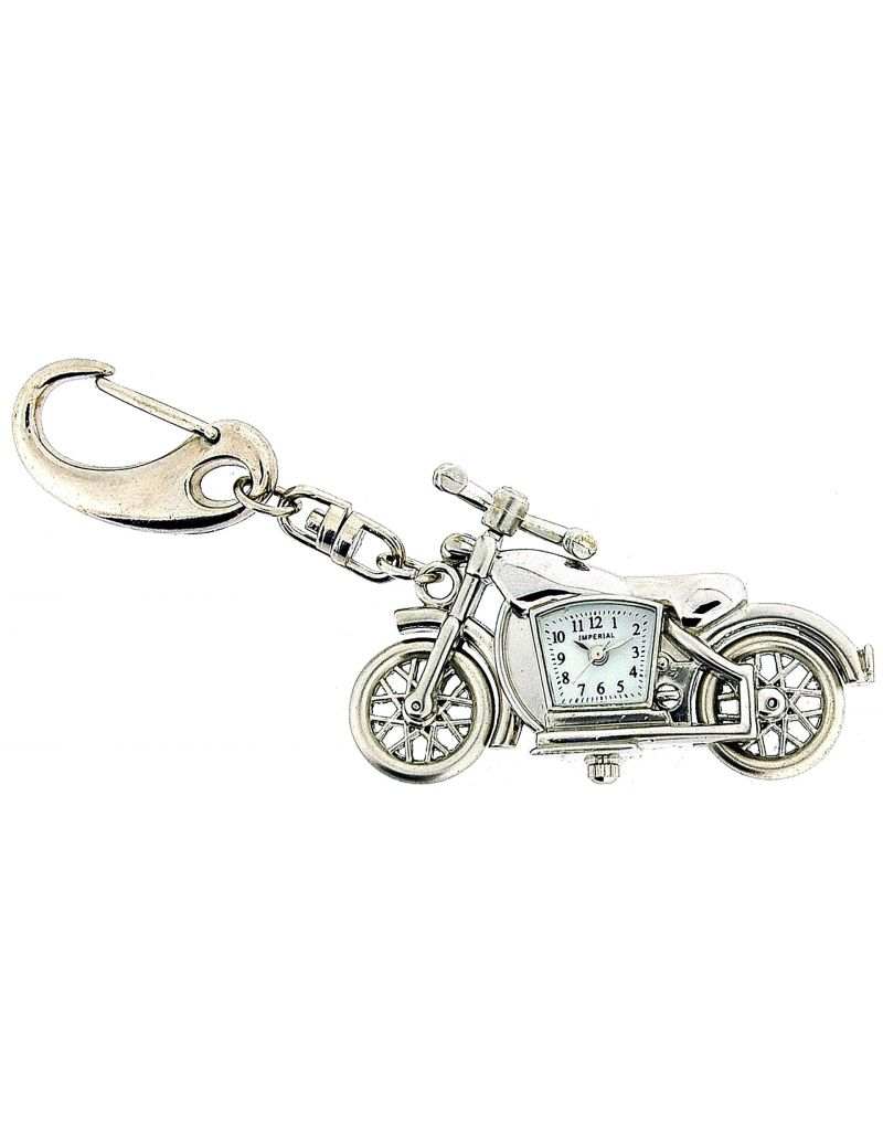 GTP Unisex Novelty Motor Bike Clock Keyring An Ideal Gift  For Him Or Her IMP721