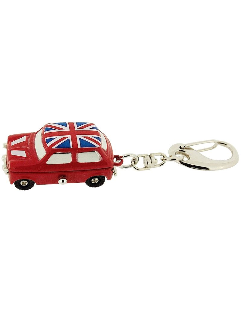 GTP Unisex Novelty Union Jack Mini Car Clock Keyring The Ideal Gift IMP732