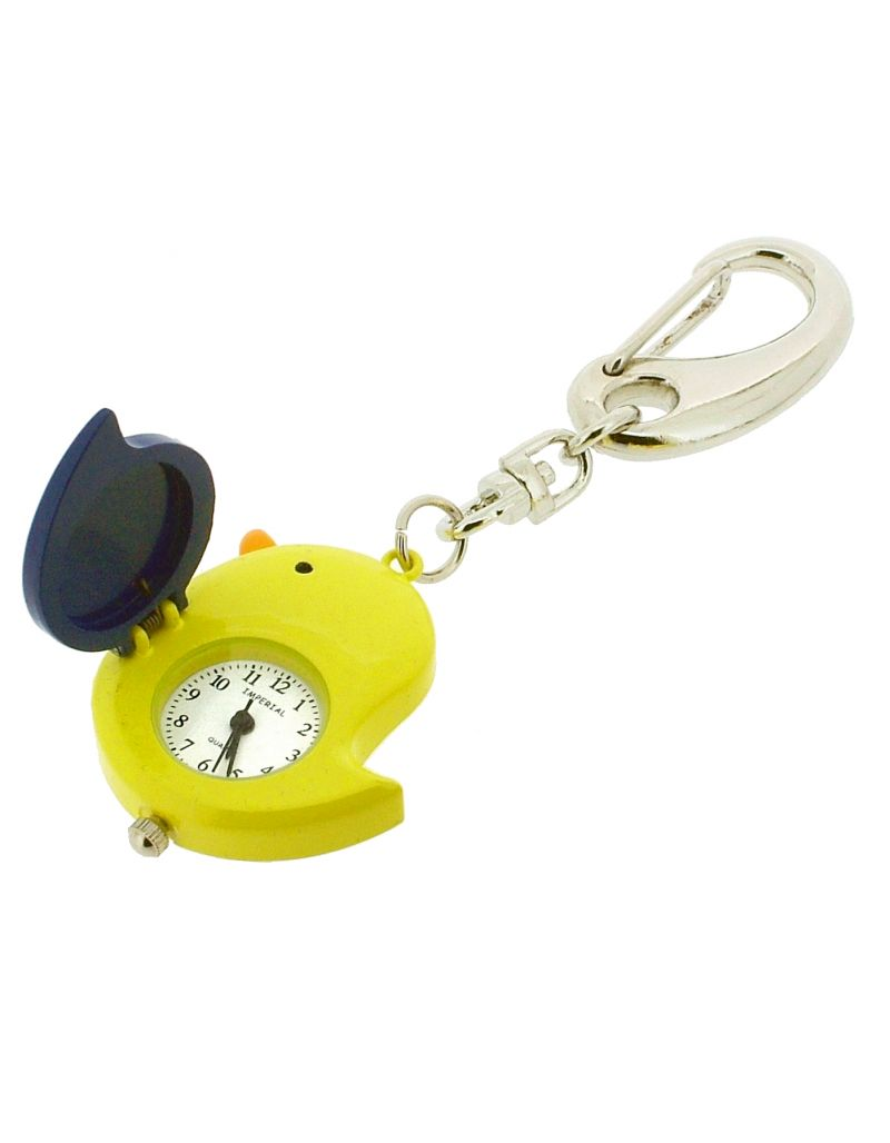 GTP Unisex Chicken with Wing Cover Key Ring Clock Hand Plated On Alloy In Presentation Box IMP738