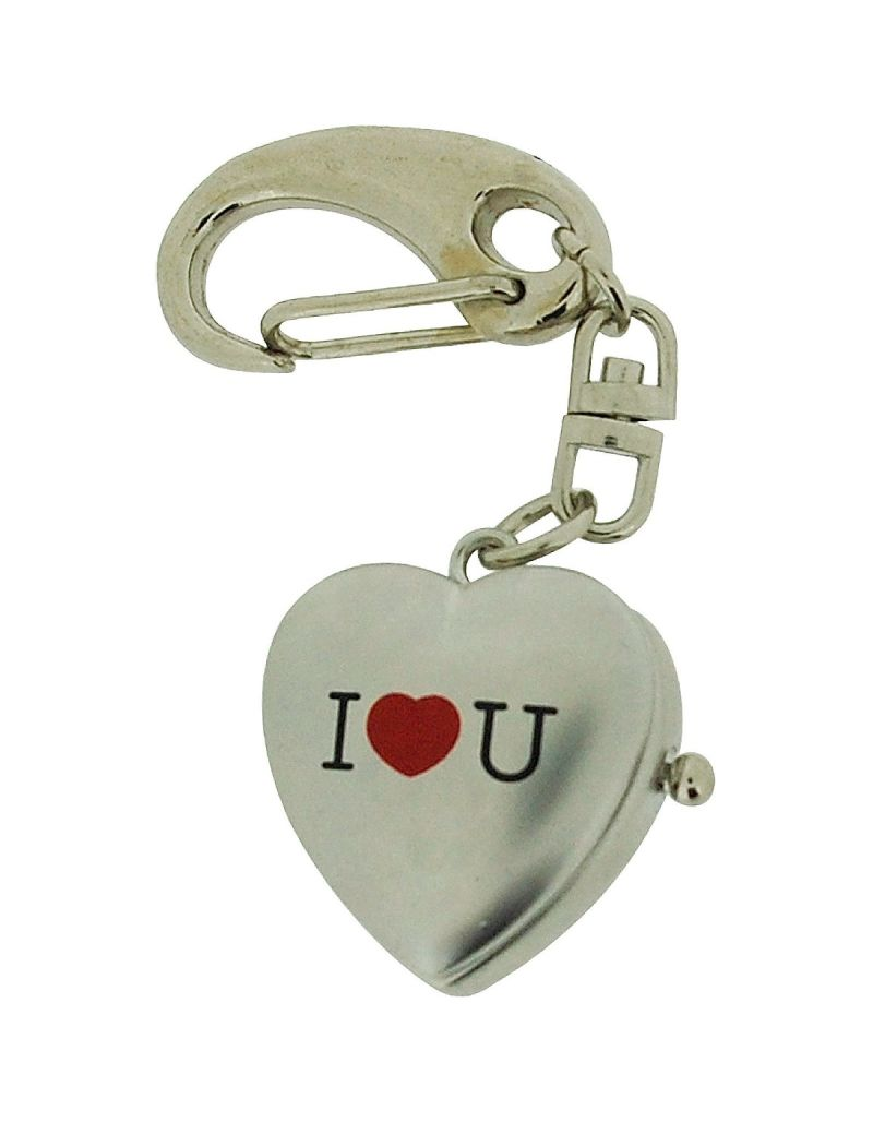 "GTP Unisex Novelty ""I Love You"" With Cover Clock Keyring An Ideal Gift  IMP739"