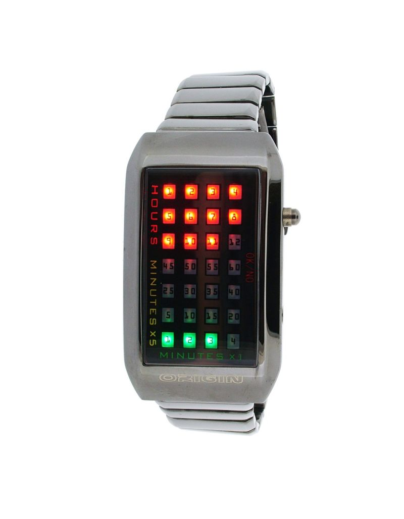 GTP Gents/Mens 28 LED Display, Date, Auto-Time Display Every Half Hour, Alloy Bracelet Strap Watch IMP918