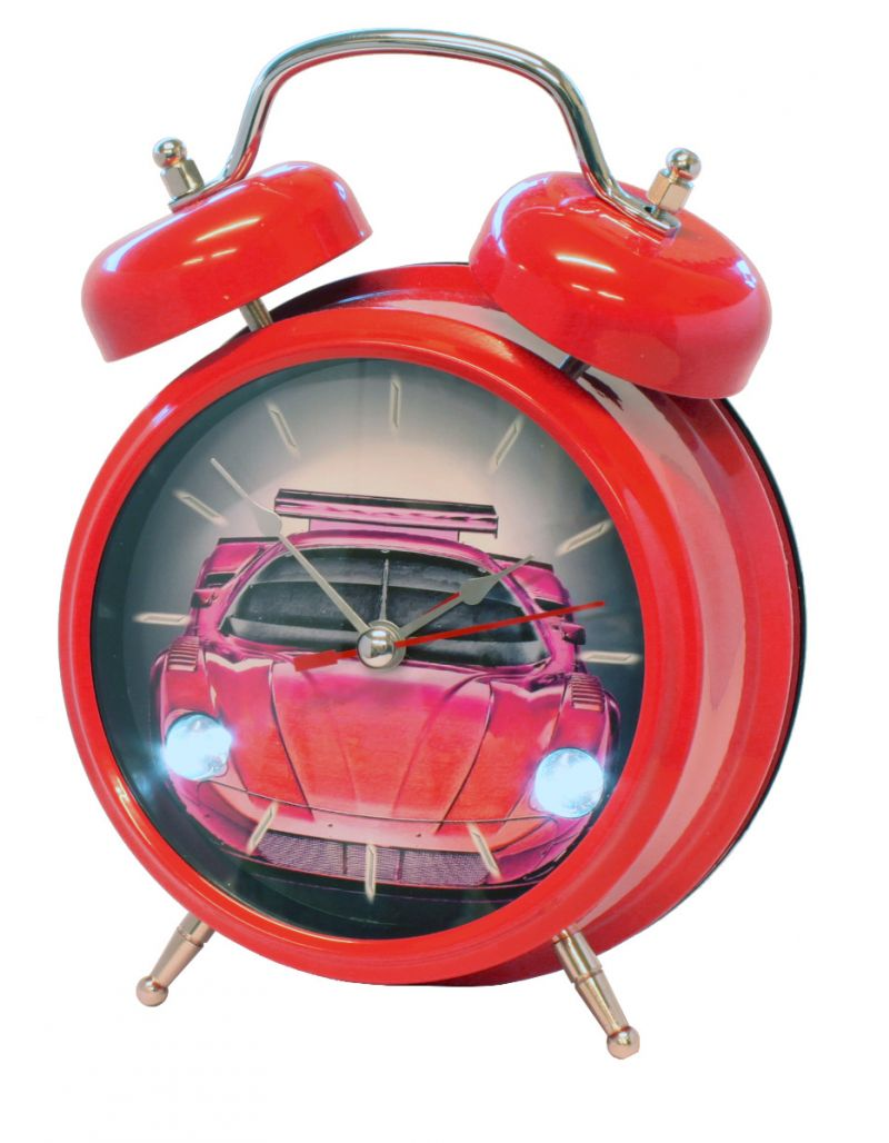 Relda Boys Sports Car Sound Flashing LED Lights Voice Alarm Clock IMP119