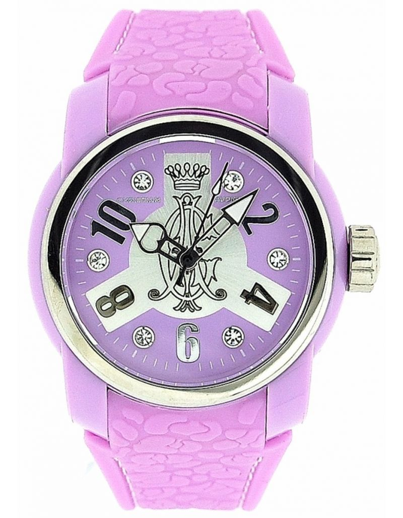 Christian Audigier Vortex Ladies Analogue Lilac Rubber Strap Watch  INT-321