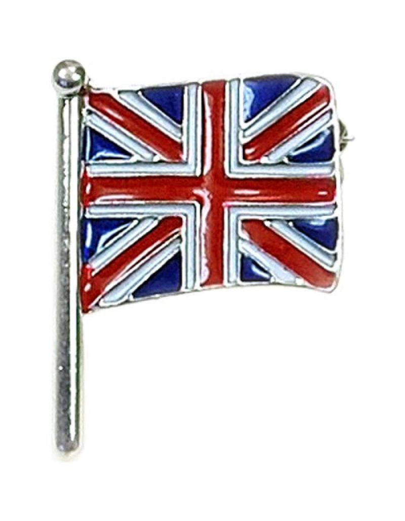 The Olivia Collection Union Jack Flag Base Metal Brooch