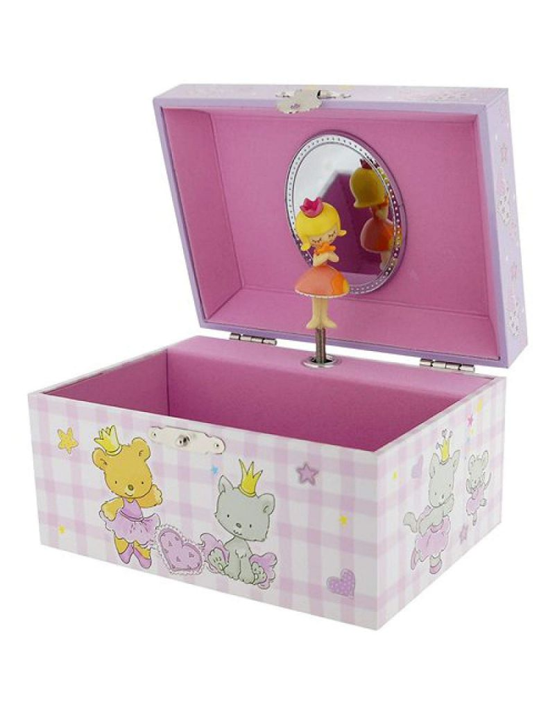 "Mele Girl's Twirling ""Dancing Girl"" Musical Jewellery/Trinket Box With Mirror"