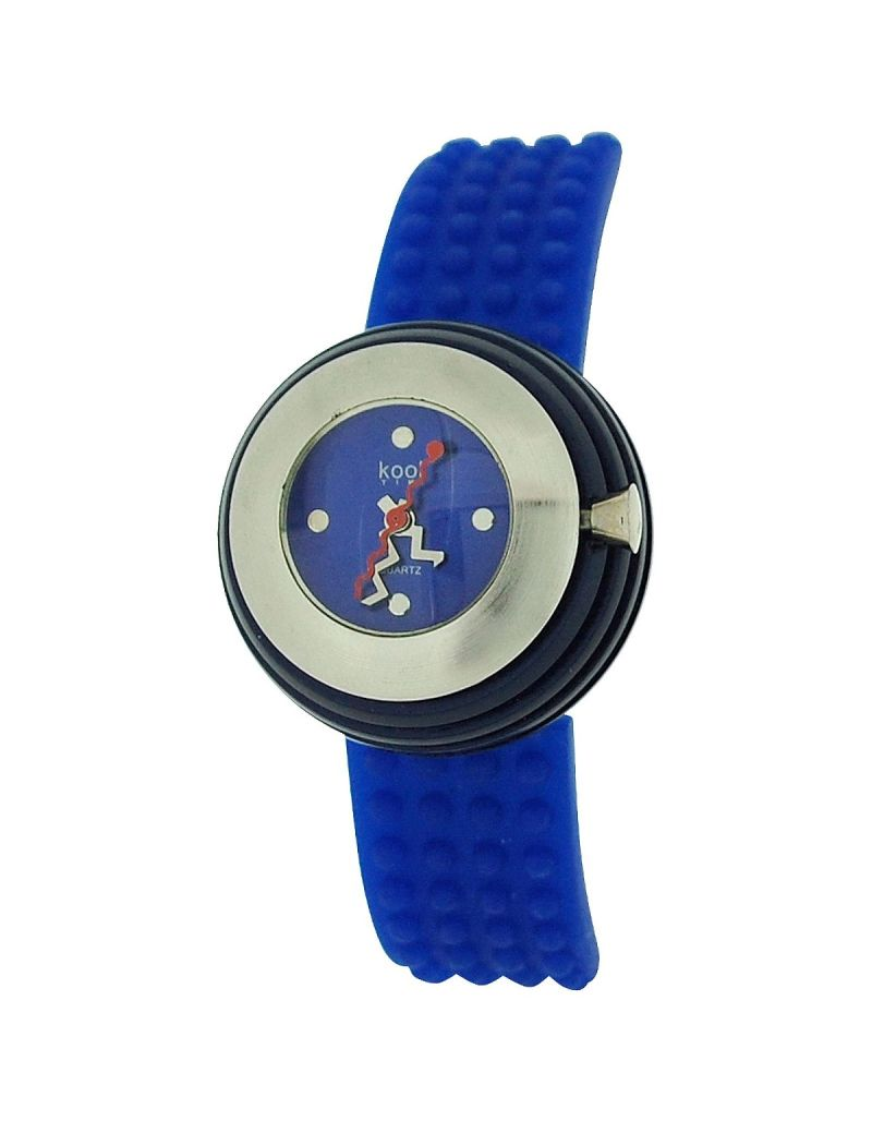 Kool Time Ladies Analogue Spheroid Blue Dial & Blue Silicone Strap Fashion Watch KT014