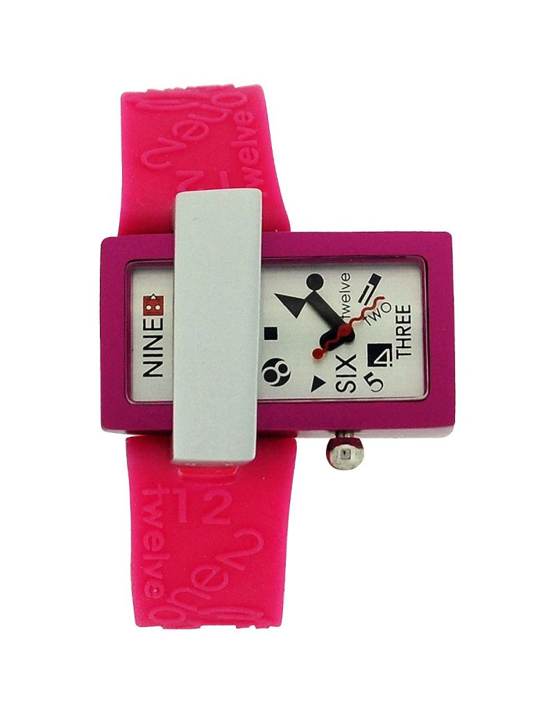 Kool Time Analogue Quantum Port Pink Silicone Strap Ladies Fashion Watch KT70