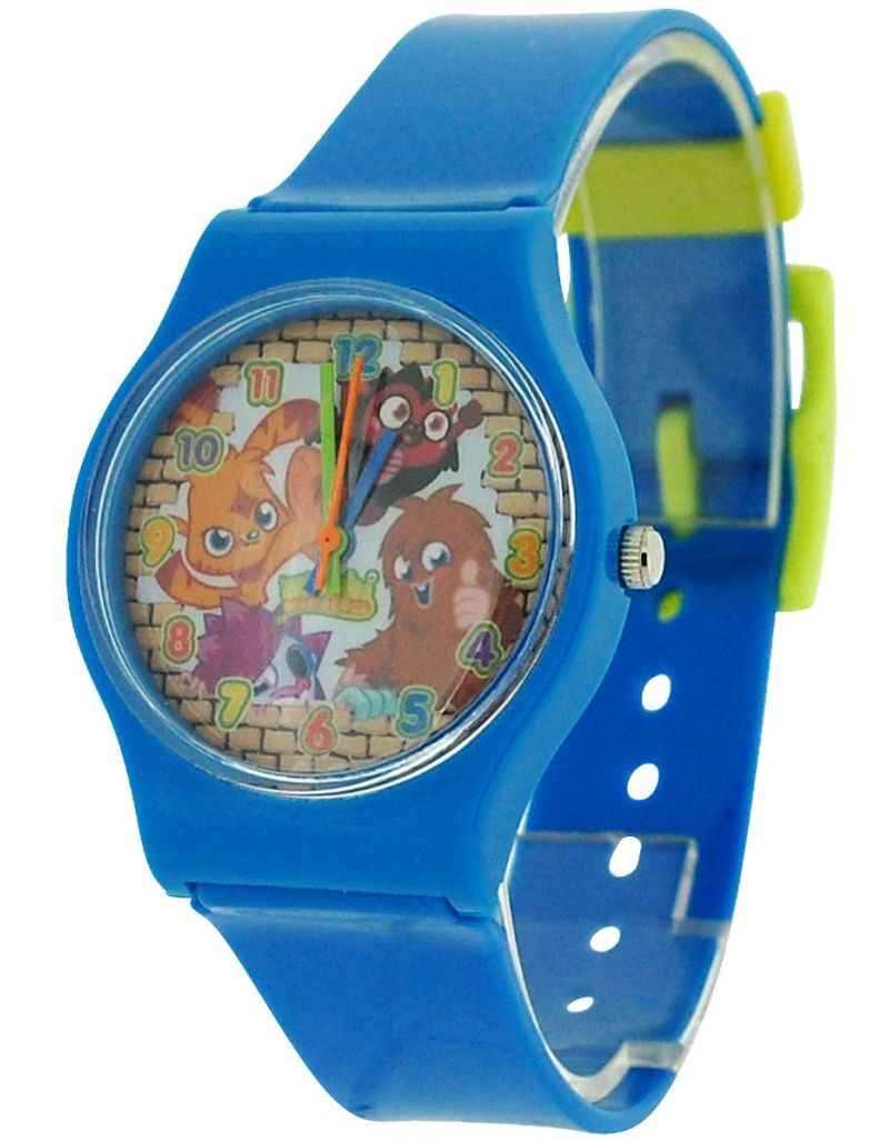 Moshi Monsters Blue Boys Analogue Plastic Strap Watch MM017