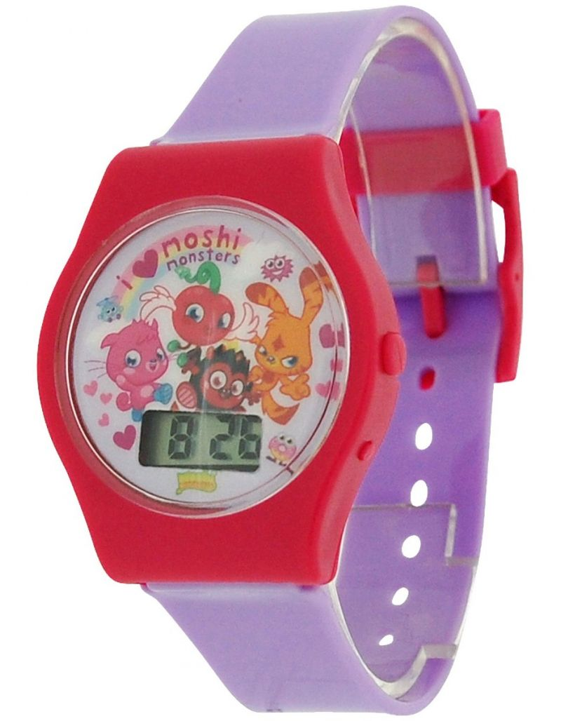 Moshi Monsters Lilac Girls Digital Plastic Strap Watch MM020
