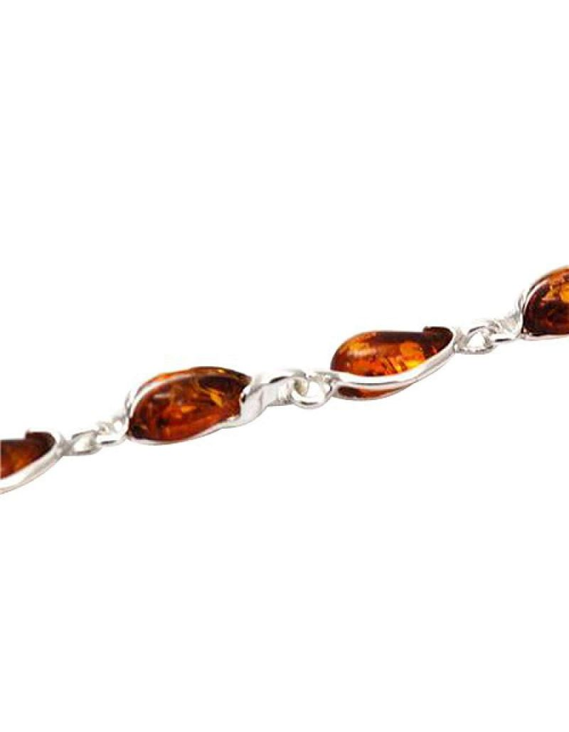 The Olivia Collection Sterling Silver Amber Bracelet