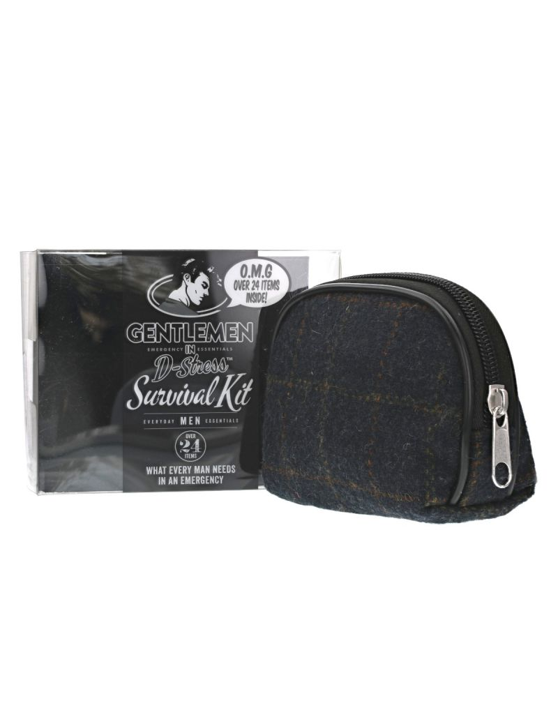 Danielle Creations Gentlemen in Emergency Gift Set, Men's survival kit, plaid SC1501