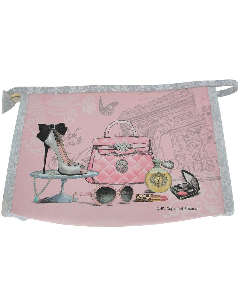 """Toiletry Bag """"Glamour Girl"""" Cosmetic, Toiletries, Make Up Travel Case With Zipper SC598"""