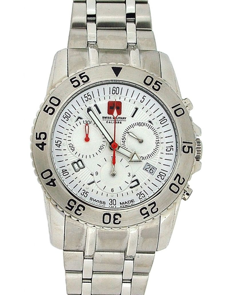 Swiss Military Catalina Chronograph All Stainless Steel Gents Watch SM06-56W