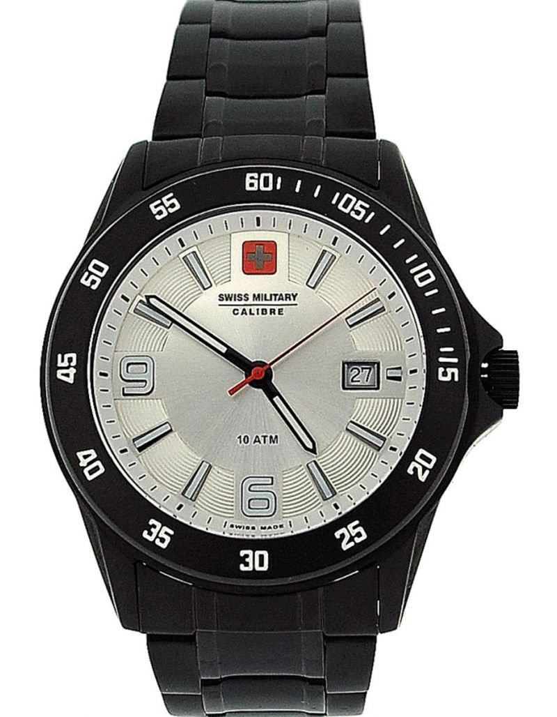 Swiss Military Target Gents Date All Stainless Steel Sports Watch SM06-5T4