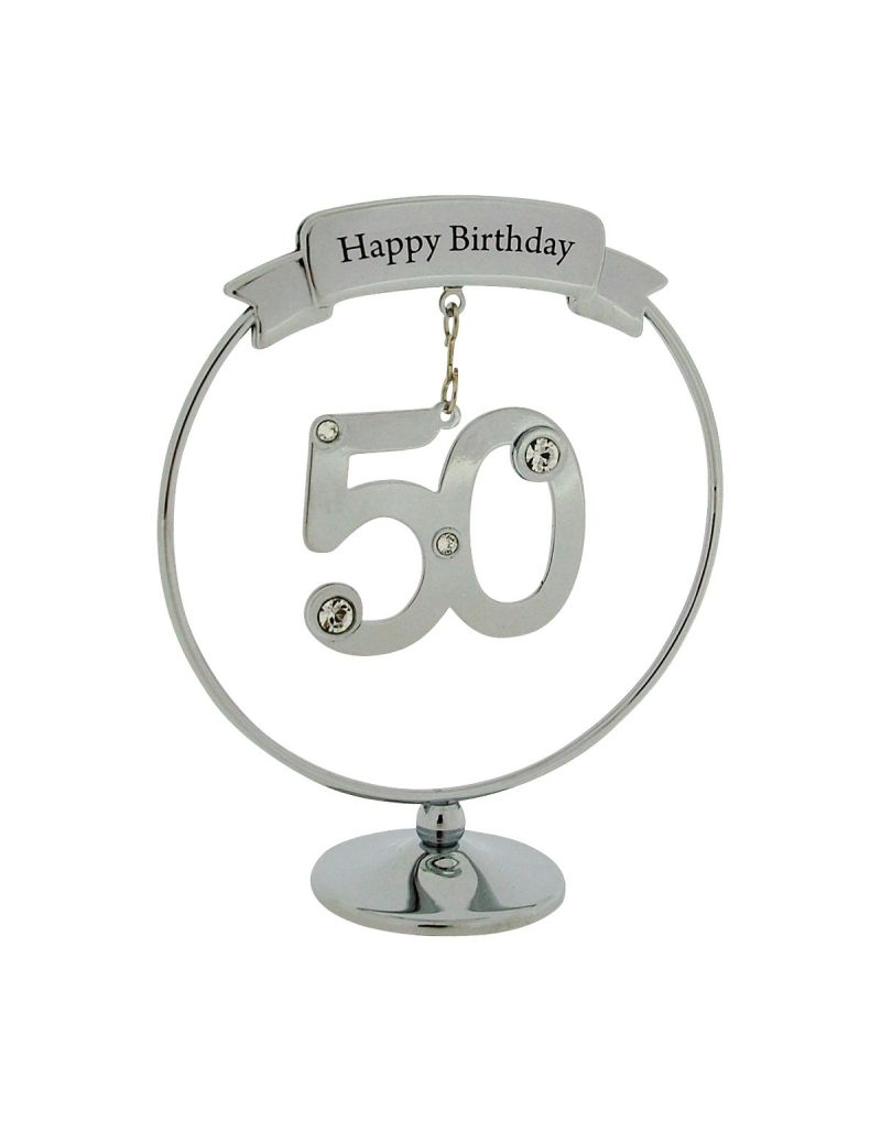 Crystocraft Chrome Plated Birthday/Anniversary Mobile Hanger Ornament Made With Swarovski Crystals (50)
