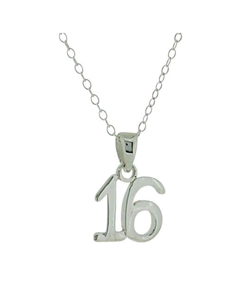 "Jo For Girls ""Sweet 16"" Sterling Silver Pendant Necklace 16"""