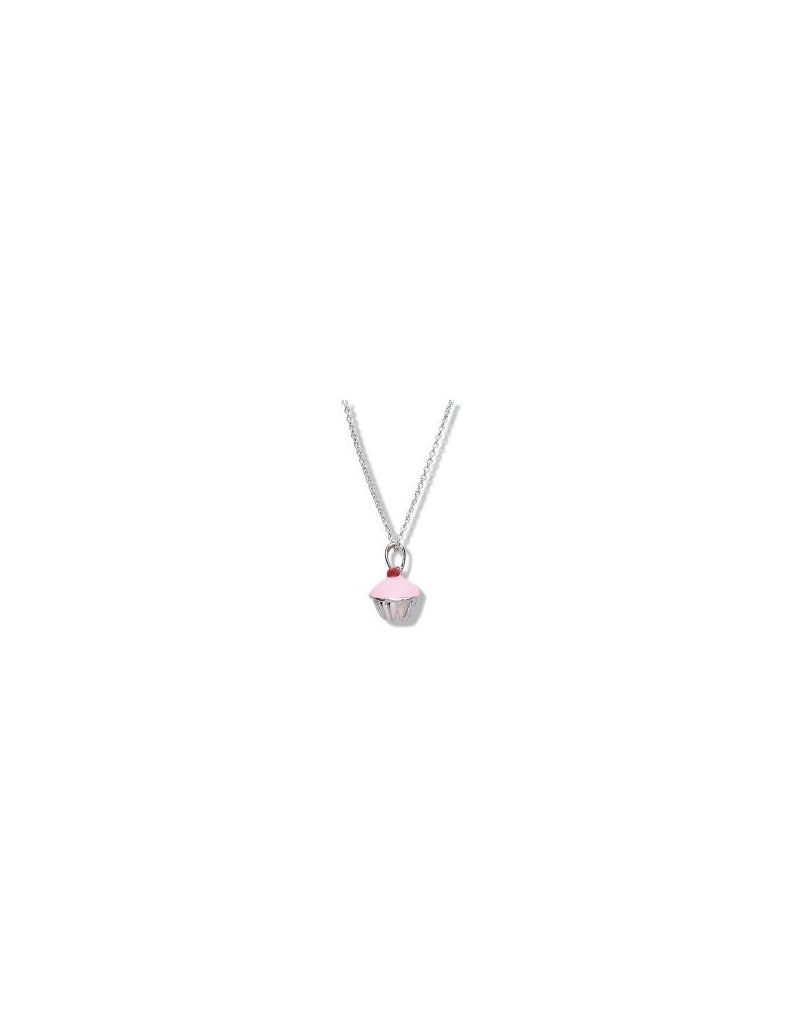 Jo For Girls Sterling Silver 3D Cupcake Pendant Necklace 14""