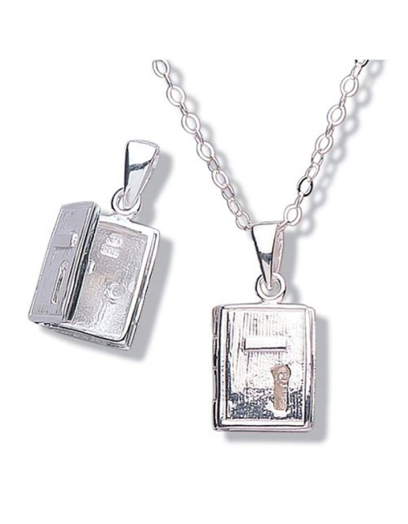 "Jo For Girls Sterling Silver ""My Secret Diary"" Locket Necklace 14"""