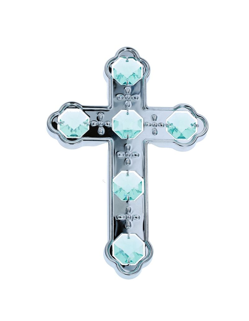 Crystocraft Cross Suction Pad Ornament Made With Swarovski Crystals