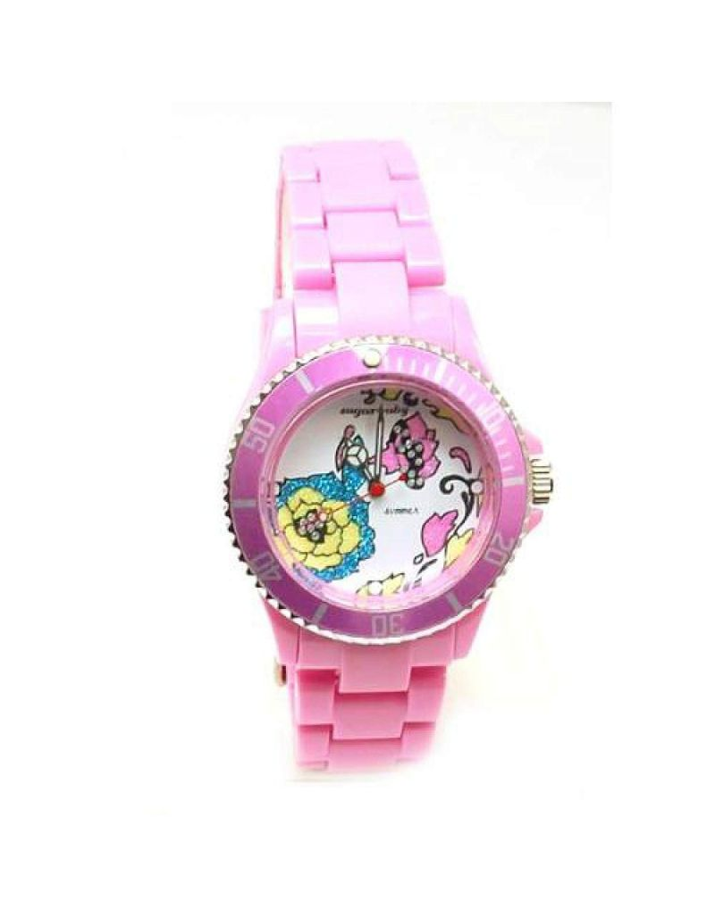 Sugarbaby 'Summer' Pink Strap Ladies Fashion Watch